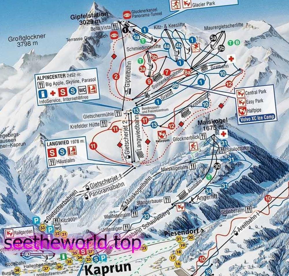 Гірськолижний курорт - Капрун (Kaprun) - Кітцштайнхорн (Kitzsteinhorn), Австрія