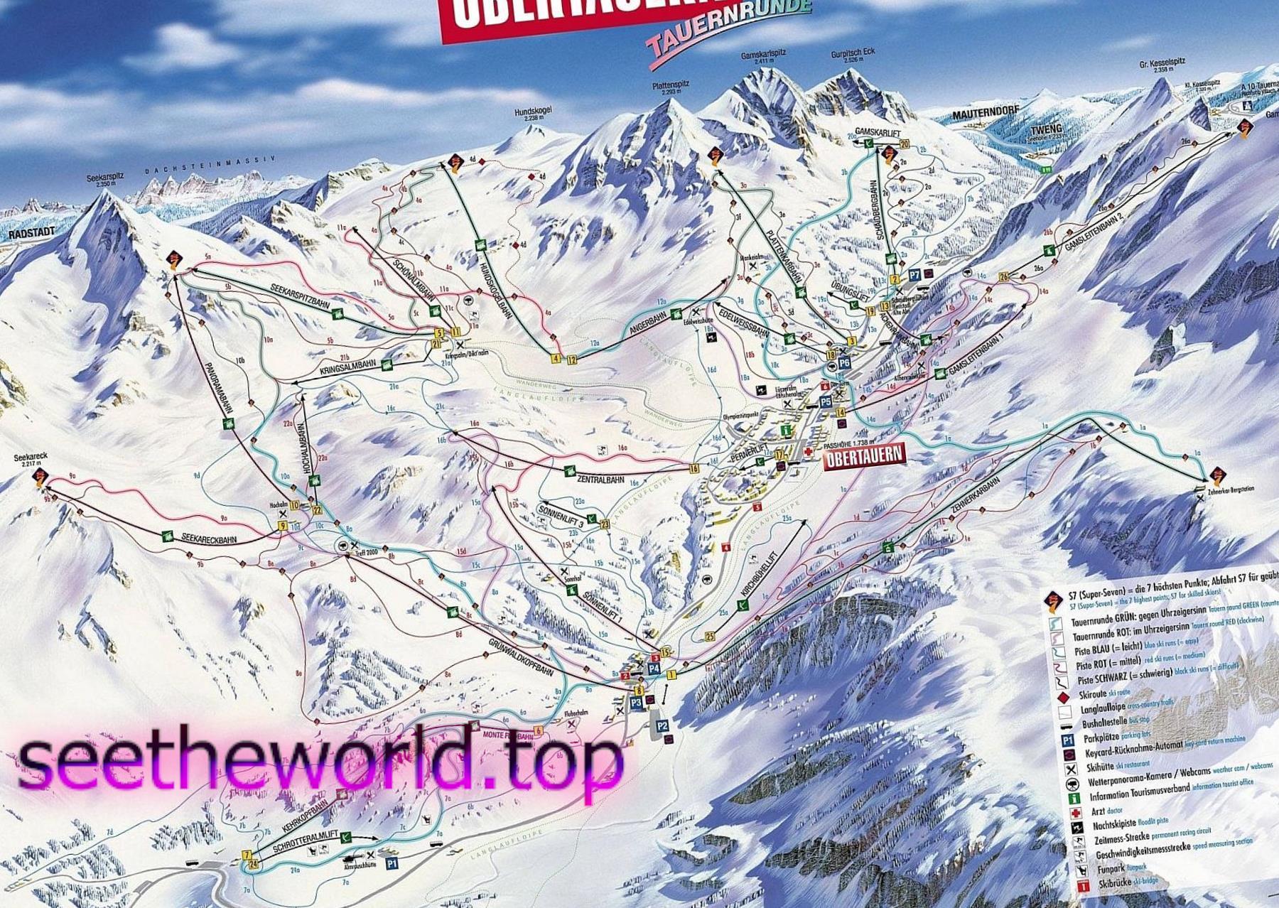 Гірськолижний курорт –Обертауерн (Obertauern), Австрія