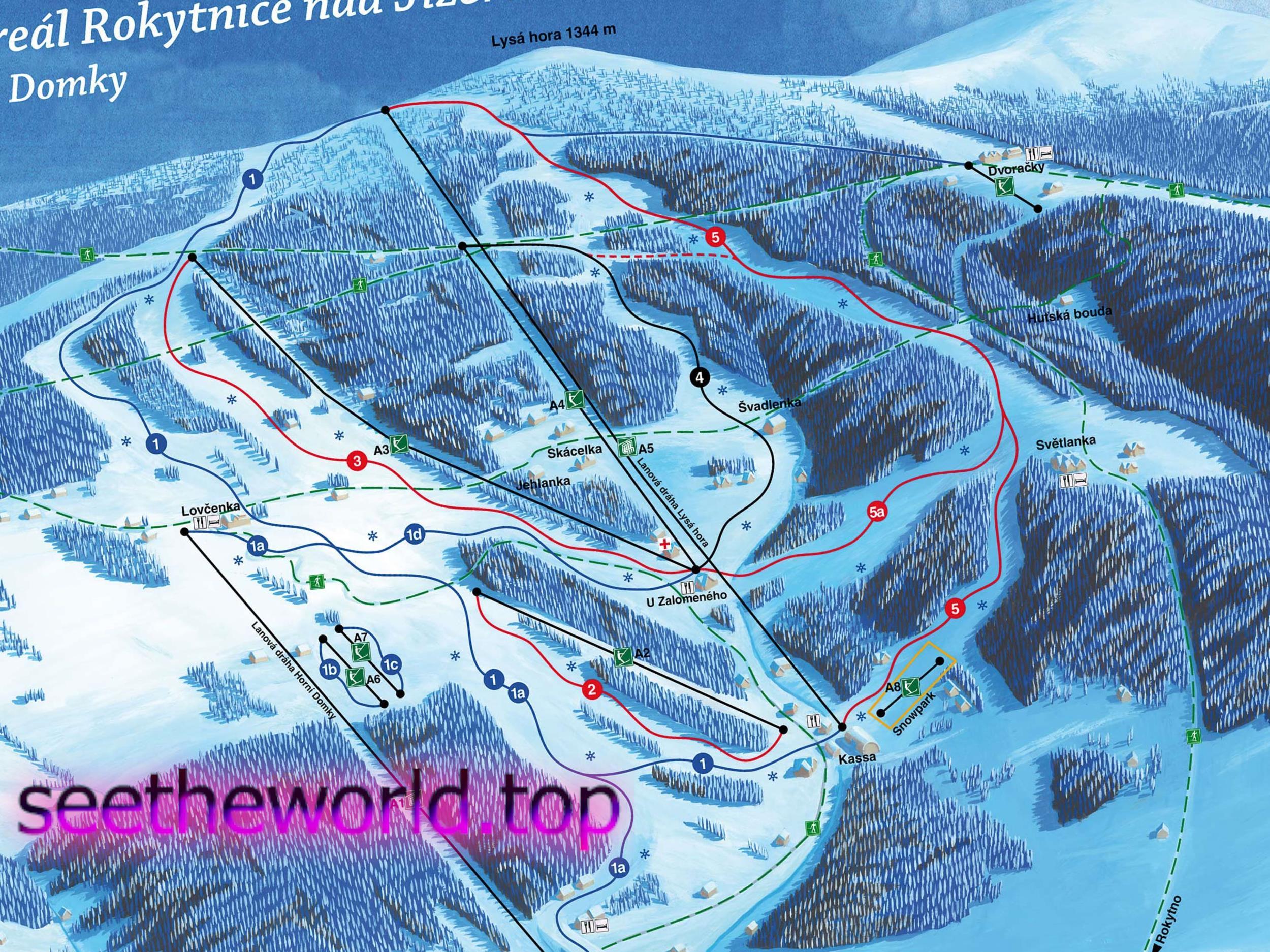 Гірськолижні курорти Чехії
